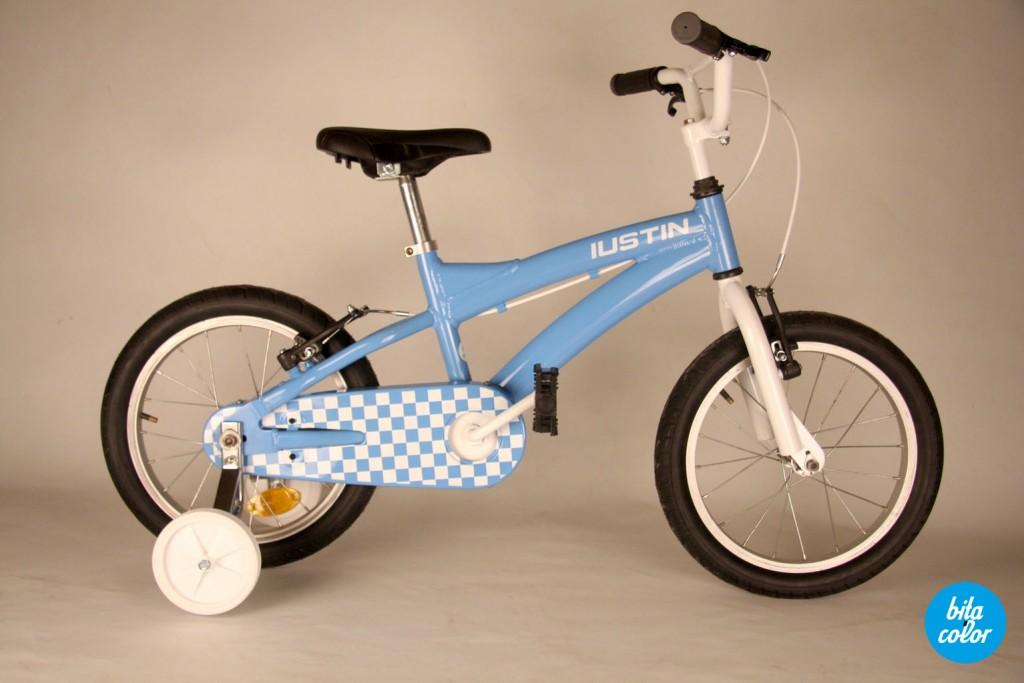 Bicicleta_de_copii_ personalizat_cyan_patratele_bitacolor_3